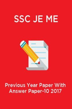 SSC JE ME  Previous Year Paper With Answer Paper-10 2017