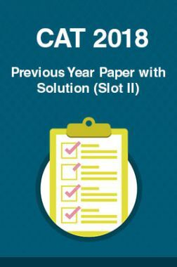 CAT 2018 Previous Year Paper with Solution (Slot II)