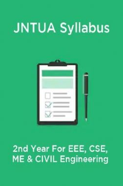 JNTUA Syllabus 2nd Year For EEE, CSE, ME & CIVIL Engineering