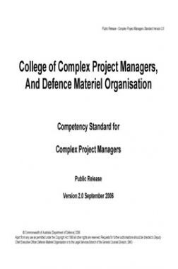 College Of Complex Project Managers And Defence Materiel Organisation