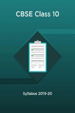 CBSE Class 10 Syllabus 2019-20