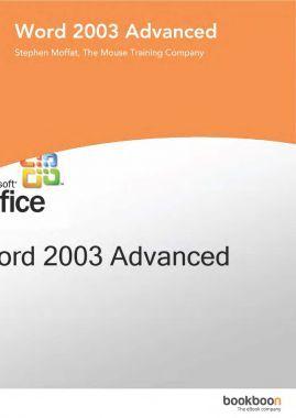 Word 2003 Advanced