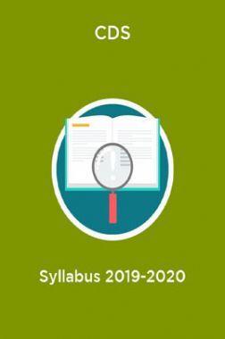 CDS Syllabus 2019-2020