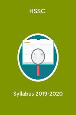 HSSC Syllabus 2019-2020