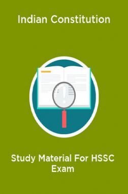 Indian Constitution Study Material For HSSC Exam