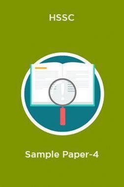 HSSC  Sample Paper-4