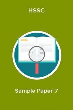 HSSC  Sample Paper-7