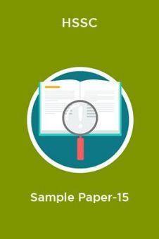 HSSC  Sample Paper-15