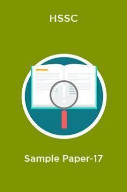 HSSC  Sample Paper-17