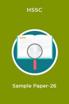 HSSC  Sample Paper-26