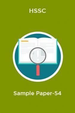 HSSC  Sample Paper-54