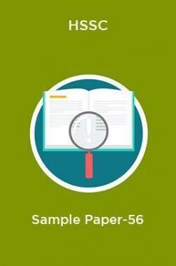 HSSC  Sample Paper-56