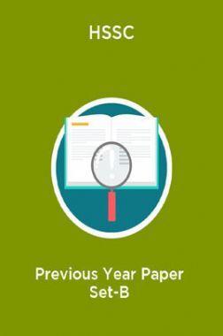 HSSC Previous Year Paper Set-B