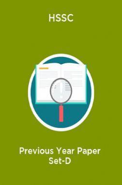 HSSC Previous Year Paper Set-D