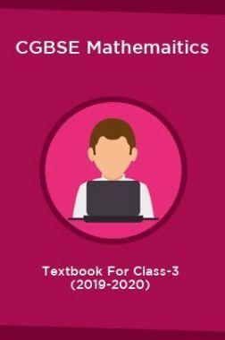 CGBSE Mathemaitics Textbook For Class-3 (2019-2020)