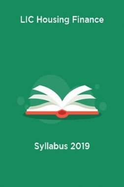 LIC Housing Finance Syllabus 2019