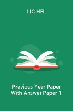 LIC HFL Previous Year Paper With Answer Paper-1