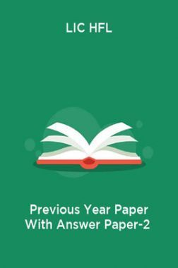 LIC HFL Previous Year Paper With Answer Paper-2
