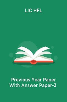 LIC HFL Previous Year Paper With Answer Paper-3
