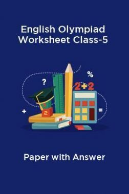 English Olympiad Worksheet Class-5 Paper With Answer