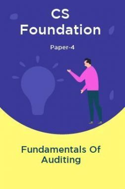 CS Foundation Paper-4 Fundamentals Of Auditing