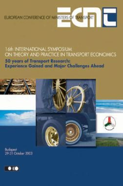 16th International Symposium On Theory and Practice In Transport Economics