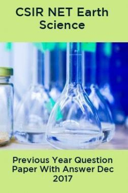 CSIR NET Earth Science Previous Year Question Paper With Answer Dec 2017