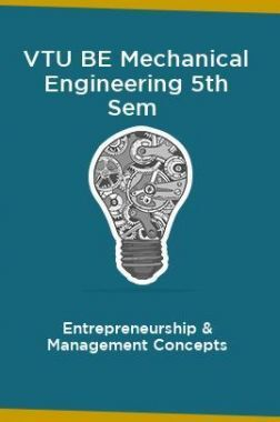 VTU BE Mechanical Engineering 5th Sem Entrepreneurship & Management Concepts