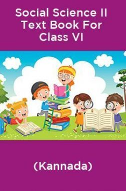Social Science II Text Book For Class VI (Kannada)