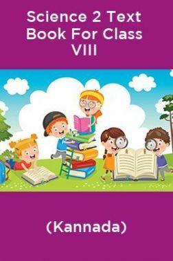 Science 2 Text Book For Class VIII (Kannada)