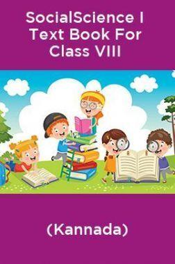 SocialScience I Text Book For Class VIII (Kannada)