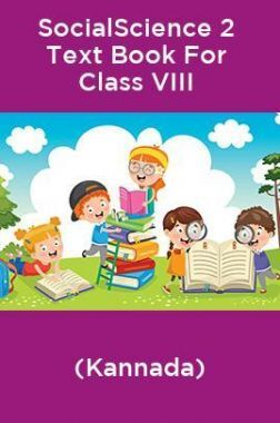 SocialScience 2 Text Book For Class VIII (Kannada)