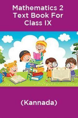 Mathematics 2 Text Book For Class IX (Kannada)