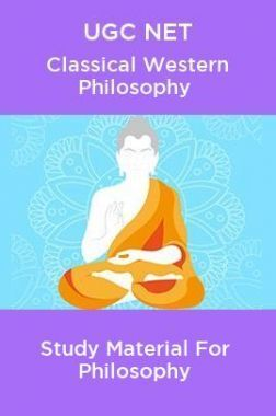 UGC NET Classical Western Philosophy Study Material For Philosophy
