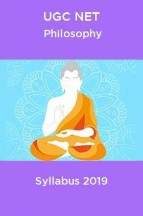 UGC NET Philosophy Syllabus 2019