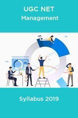 UGC NET Management Syllabus 2019