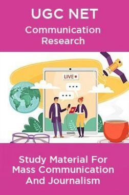 UGC NET Communication Research Study Material For Mass Communication And Journalism