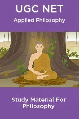 UGC NET  Applied Philosophy Study Material For Philosophy