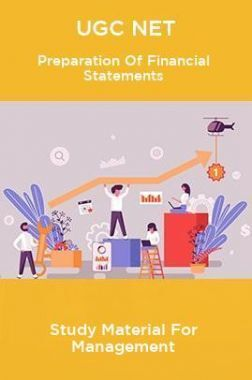 UGC NET Preparation Of Financial Statements Study Material For Management