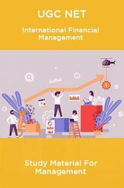 UGC NET International Financial Management Study Material For Management
