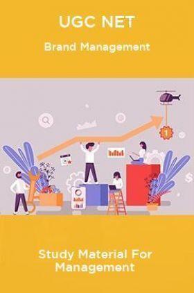 UGC NET Brand Management Study Material For Management