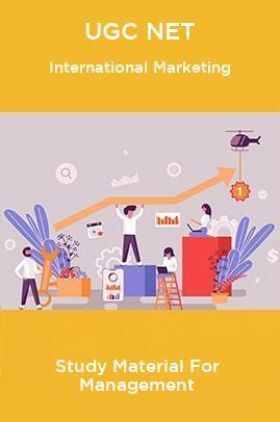 UGC NET International Marketing Study Material For Management