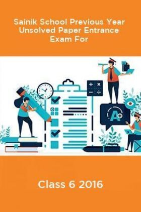 Sainik School Previous Year Unsolved Paper Entrance Exam For Class 6 2016