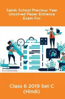 Sainik School Previous Year Unsolved Paper Entrance Exam For Class 6 2019 Set C (Hindi)