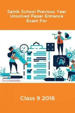 Sainik School Previous Year Unsolved Paper Entrance Exam For Class 9 2018