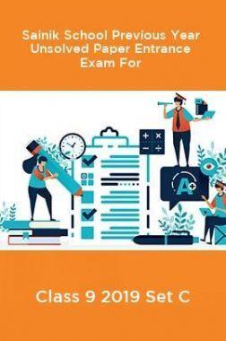 Sainik School Previous Year Unsolved Paper Entrance Exam For Class 9 2019 Set C