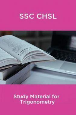 SSC CHSL Study Material for  Trigonometry