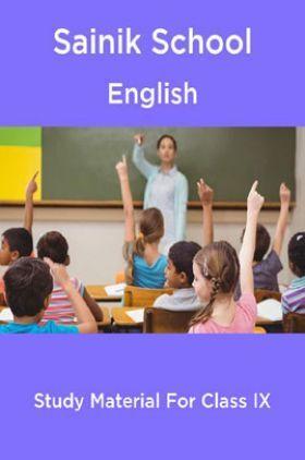 Sainik School English Study Material For Class 9