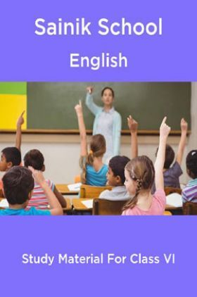 Sainik School English Study Material For Class 6