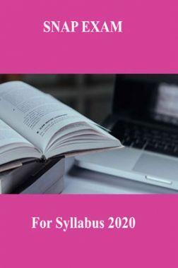 SNAP EXAM For Syllabus 2020